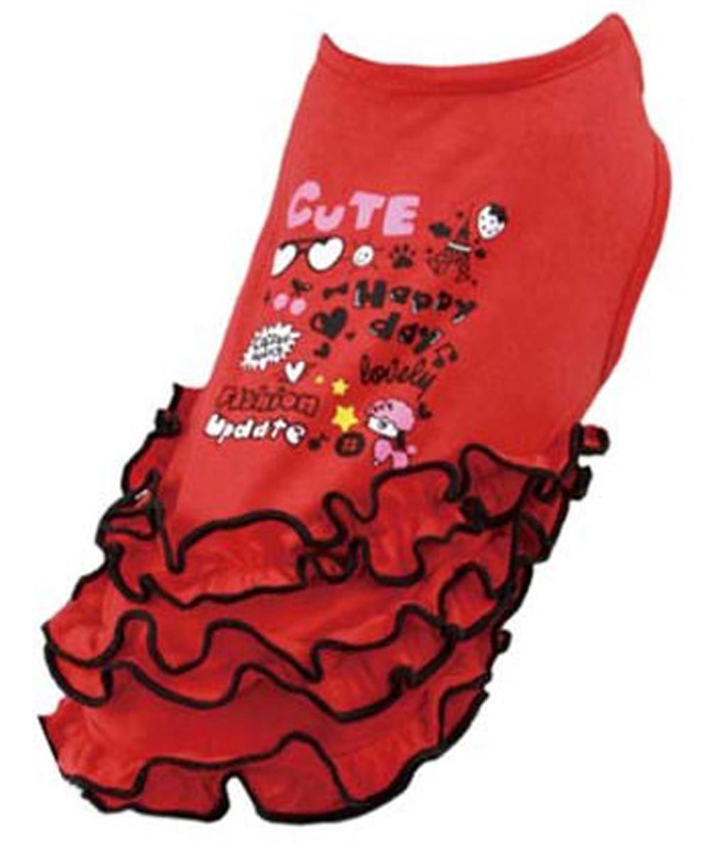 """Платье для собак """"Dobaz"""", цвет: красный. ДА13022БХЛ. Размер XL"""