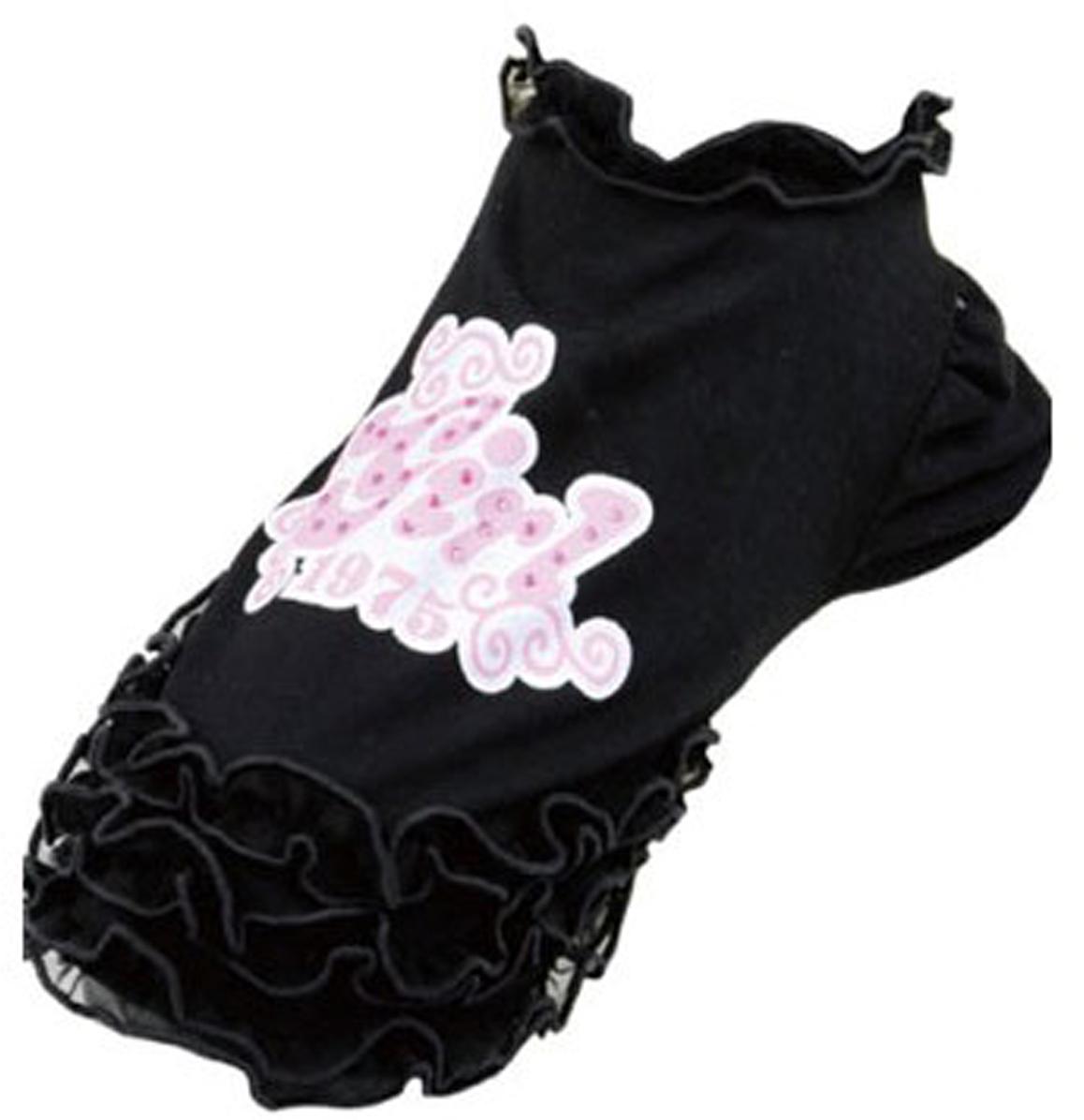 """Майка для собак Dobaz """"Girl 1975"""", для девочки, цвет: черный. ДА13024БЛ. Размер L"""