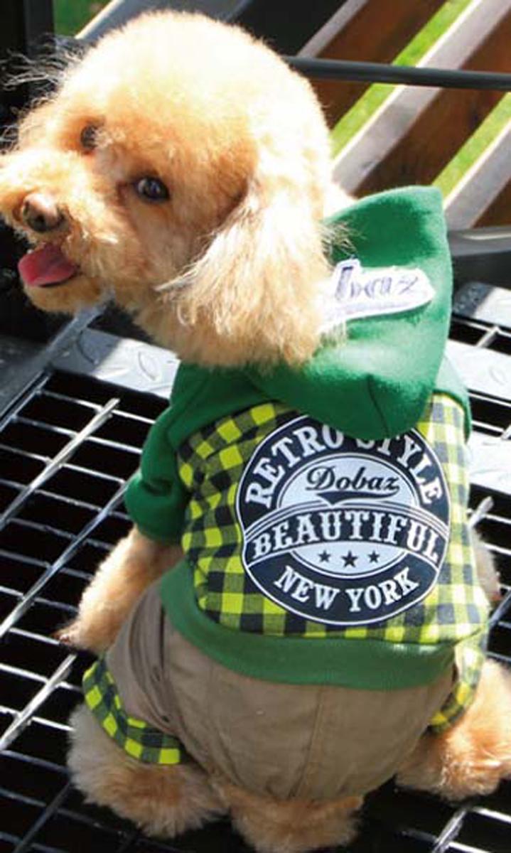 Комбинезон для собак Dobaz, цвет: желтый, черный. ДА13049БХЛ. Размер XL комбинезон для собак dobaz утепленный цвет бежевый дл1008бхл размер xl