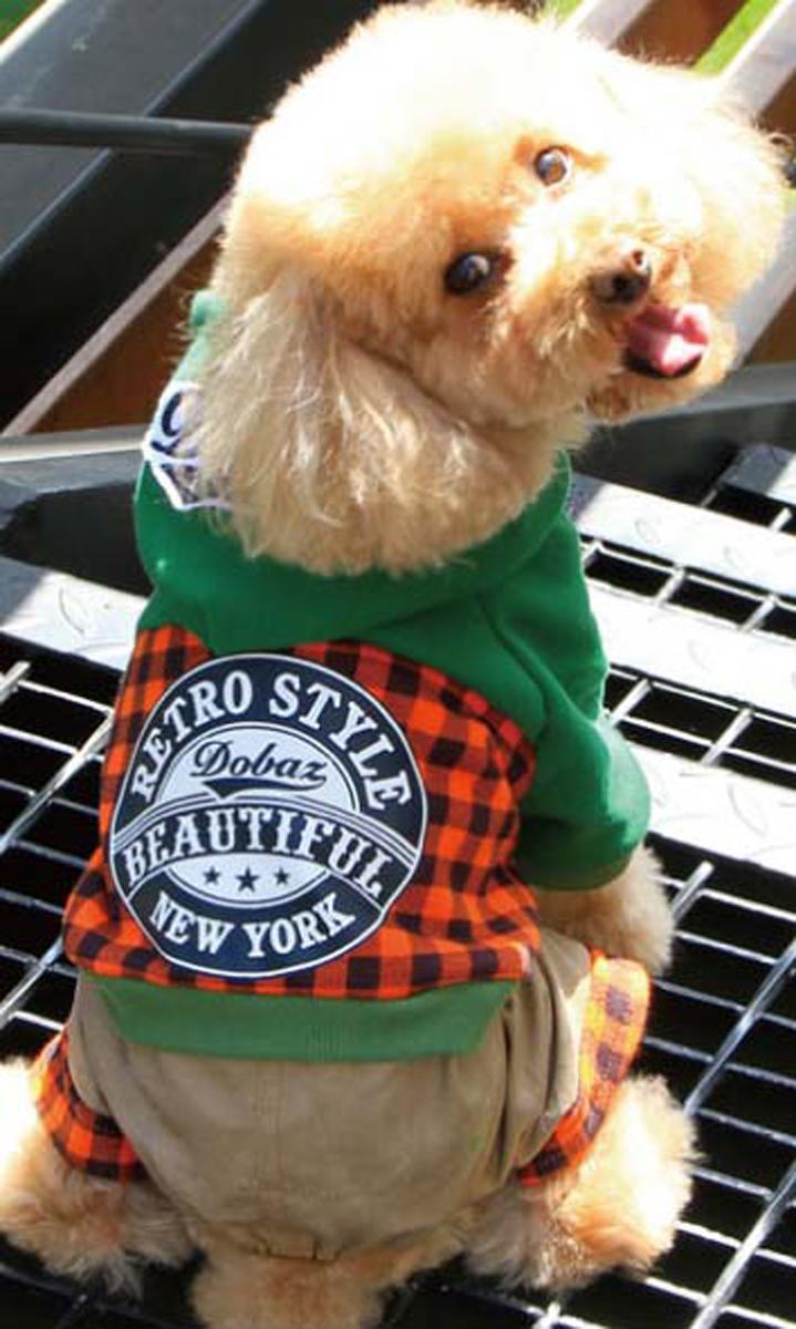 Комбинезон для собак Dobaz, цвет: оранжевый, черный. ДА13049СХЛ. Размер XL комбинезон для собак dobaz утепленный цвет бежевый дл1008бхл размер xl