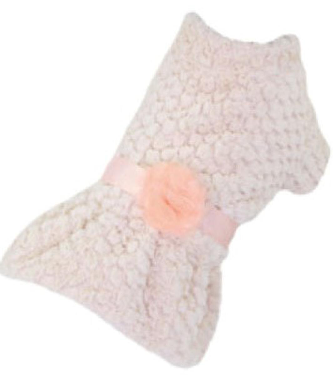 """Платье для собак """"Dobaz"""", утепленное, цвет: персиковый. ДА13069БЛ. Размер L"""