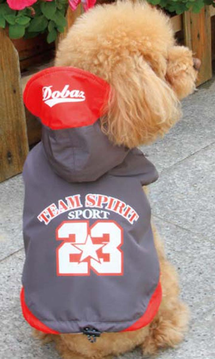 Куртка для собак Dobaz Team Spirit, цвет: темно-серый. ДА13076СХЛ. Размер XL куртка для собак dobaz цвет серый черный да1222вхс размер xs