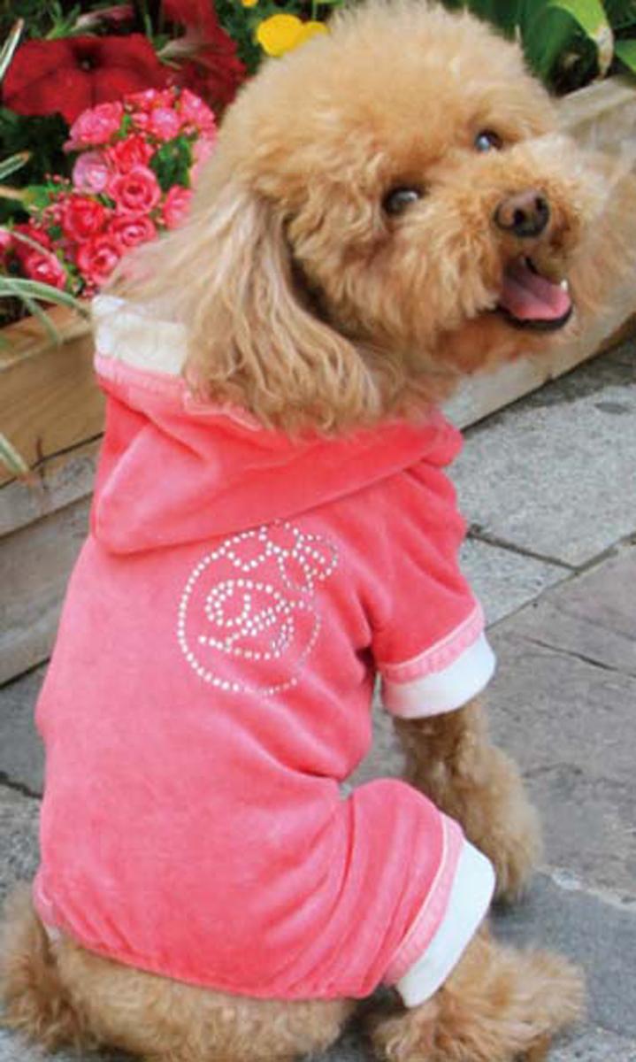 Комбинезон для собак Dobaz, цвет: розовый. ДА13081АХЛ. Размер XL комбинезон для собак dobaz утепленный цвет бежевый дл1008бхл размер xl
