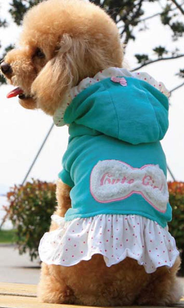 """Платье для собак """"Dobaz"""", утепленное, цвет: голубой. ДА13082БХС. Размер XS"""