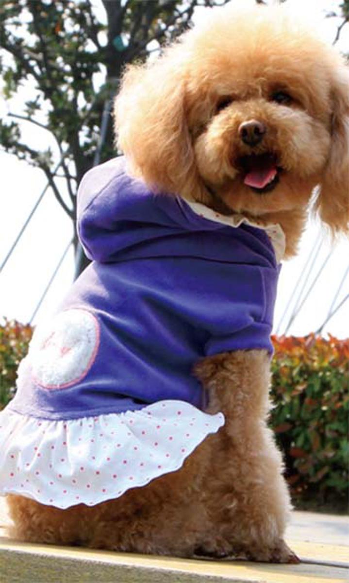 """Платье для собак """"Dobaz"""", утепленное, цвет: сиреневый. ДА13082СХС. Размер XS"""