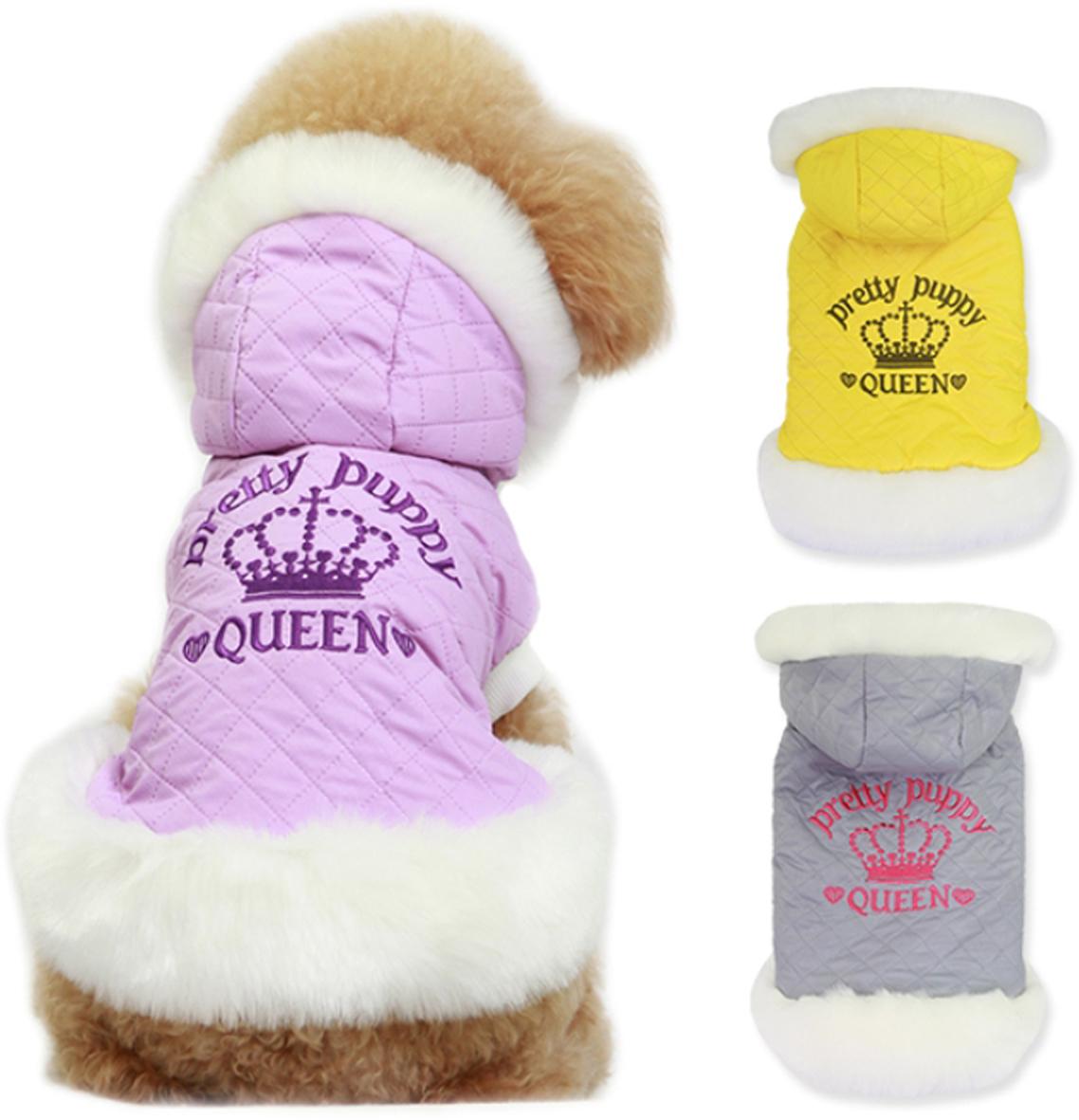 Куртка для собак Dobaz Pretty Puppy, цвет: серый. ДА14068ВС. Размер S куртка для собак dobaz цвет серый черный да1222вхс размер xs