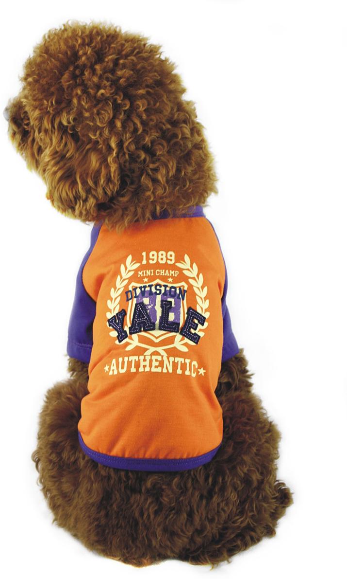 Майка для собак Dobaz, унисекс, цвет: оранжевый, синий. ДГ1101БХХЛ. Размер XXL майка для собак dobaz паровозик унисекс цвет темно зеленый оранжевый да025бххл размер xxl