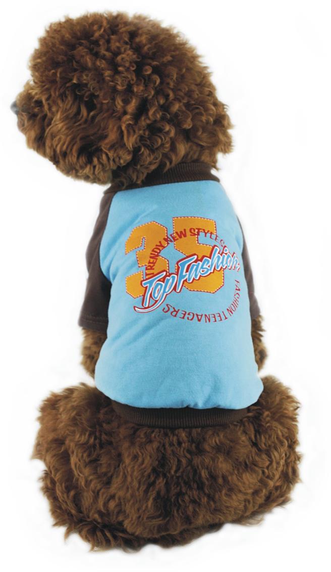 Майка для собак Dobaz, унисекс, цвет: голубой. ДГ1102АХХЛ. Размер XXL майка для собак dobaz паровозик унисекс цвет темно зеленый оранжевый да025бххл размер xxl