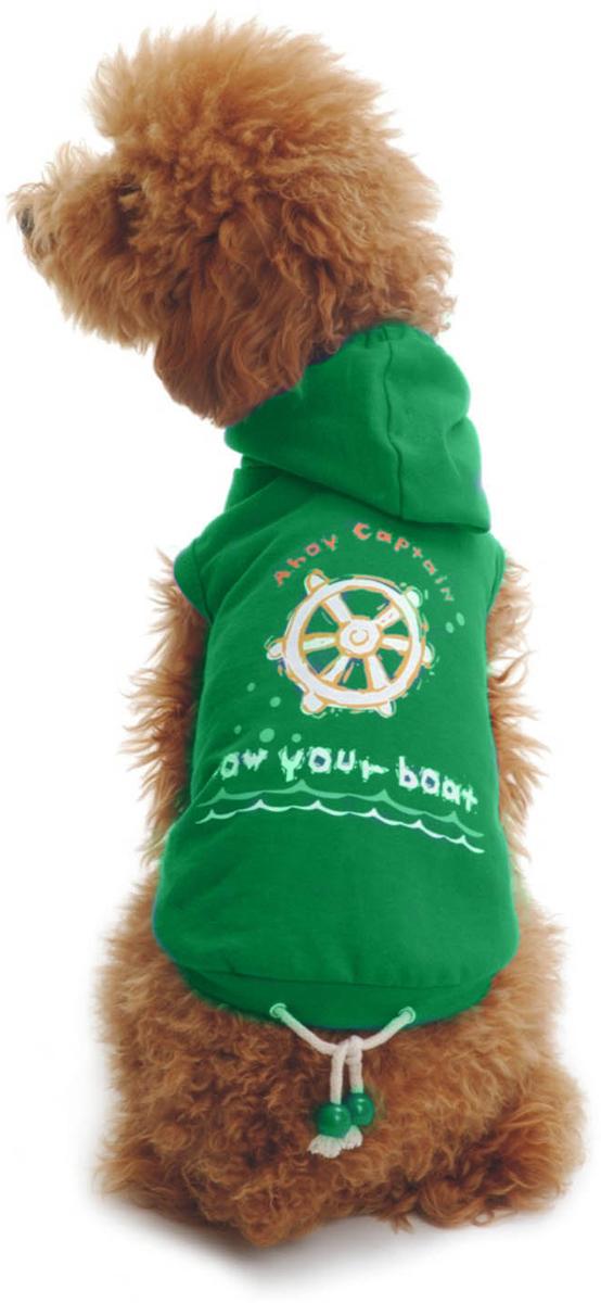 Майка для собак Dobaz Штурвал, унисекс, цвет: зеленый. ДЛ017БХХЛ. Размер XXL майка для собак dobaz паровозик унисекс цвет темно зеленый оранжевый да025бххл размер xxl