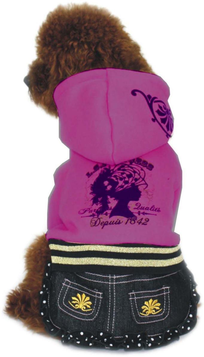 """Платье для собак """"Dobaz"""", утепленное, цвет: фиолетовый. ДЛ1025БХЛ. Размер XL"""