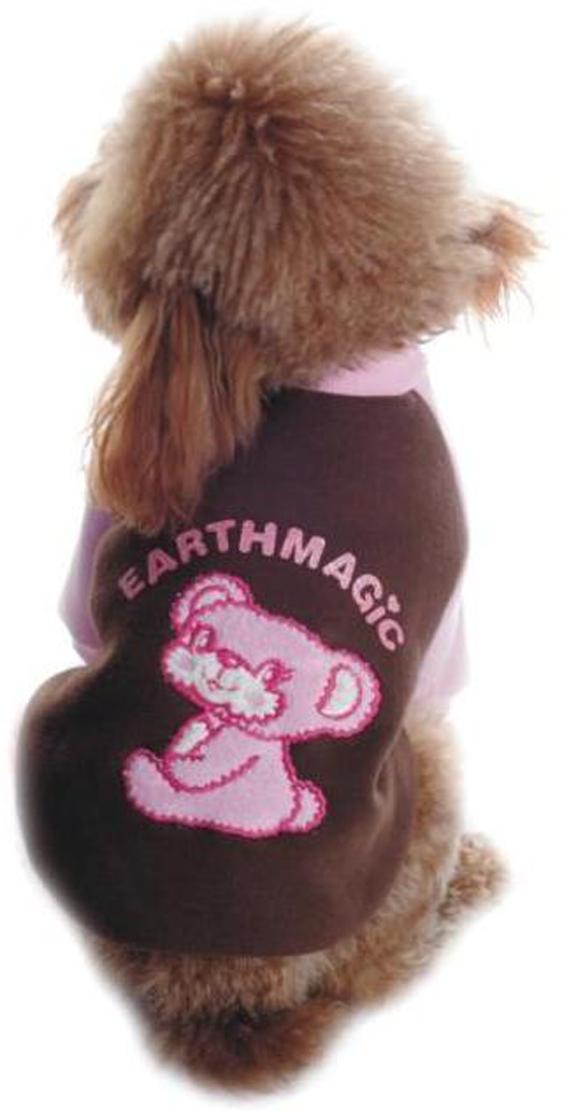 """Майка-толстовка для собак """"Dobaz"""", утепленная, цвет: коричневый, розовый. ДЛ1102АХЛ. Размер XL"""