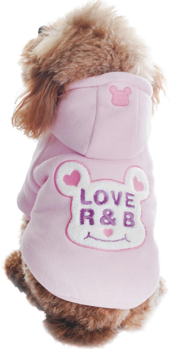 """Куртка для собак Dobaz """"Love R&B"""", утепленная, цвет: розовый. ДЛ1105АХХЛ. Размер XXL"""