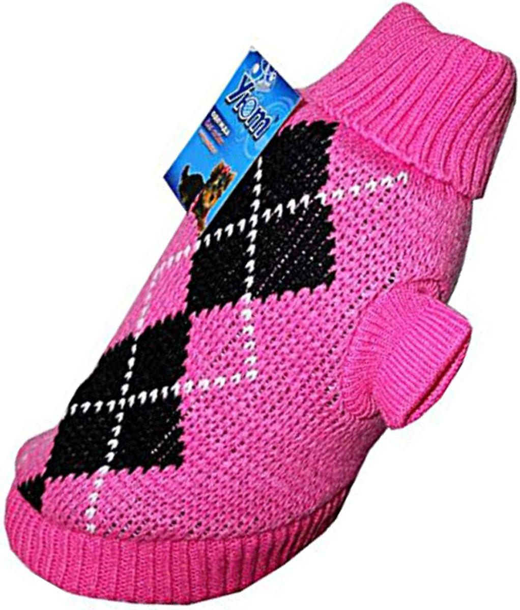 """Свитер для собак """"Уют"""", для девочки, цвет: розовый. НМ11М. Размер M"""