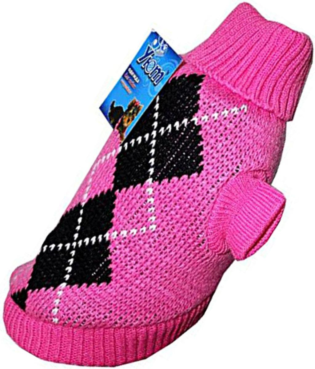 """Свитер для собак """"Уют"""", для девочки, цвет: розовый. НМ11ХЛ. Размер XL"""
