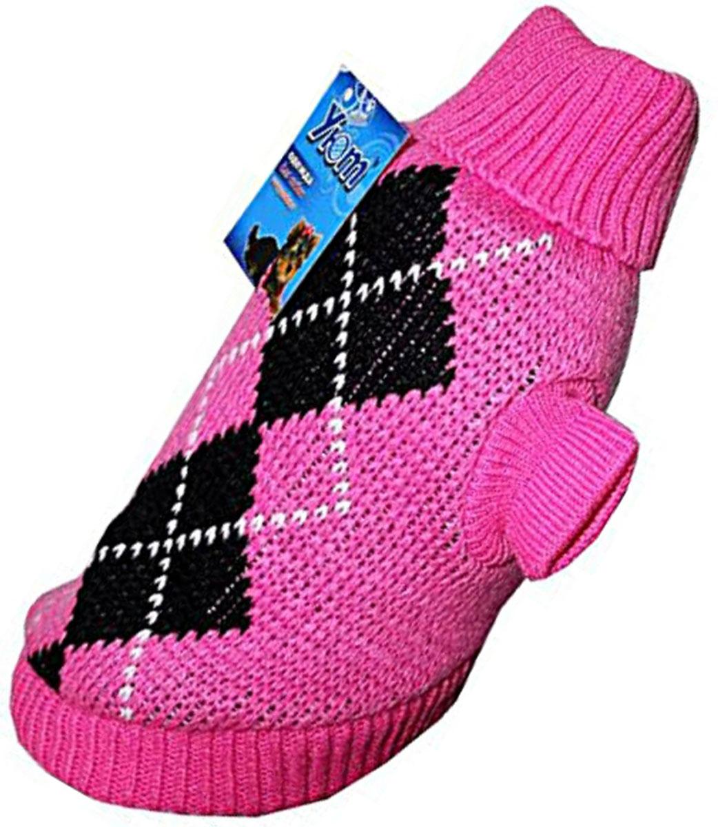 """Свитер для собак """"Уют"""", для девочки, цвет: розовый. НМ11ХС. Размер XS"""