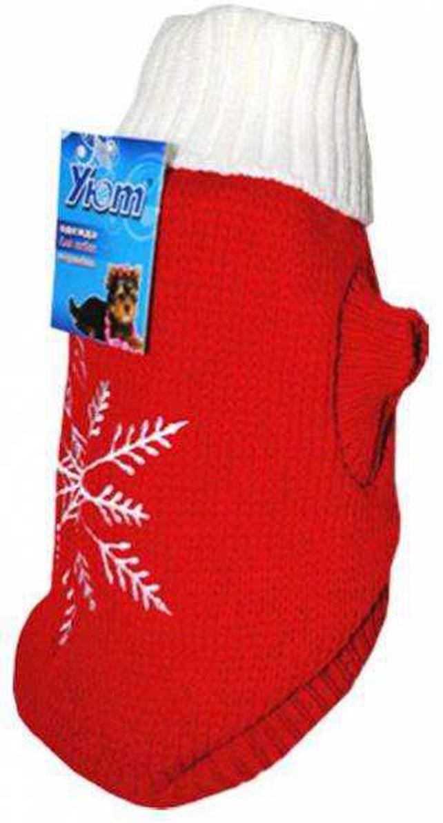 """Свитер для собак Уют """"Снежинка"""", цвет: красный. НМ12Л. Размер L"""