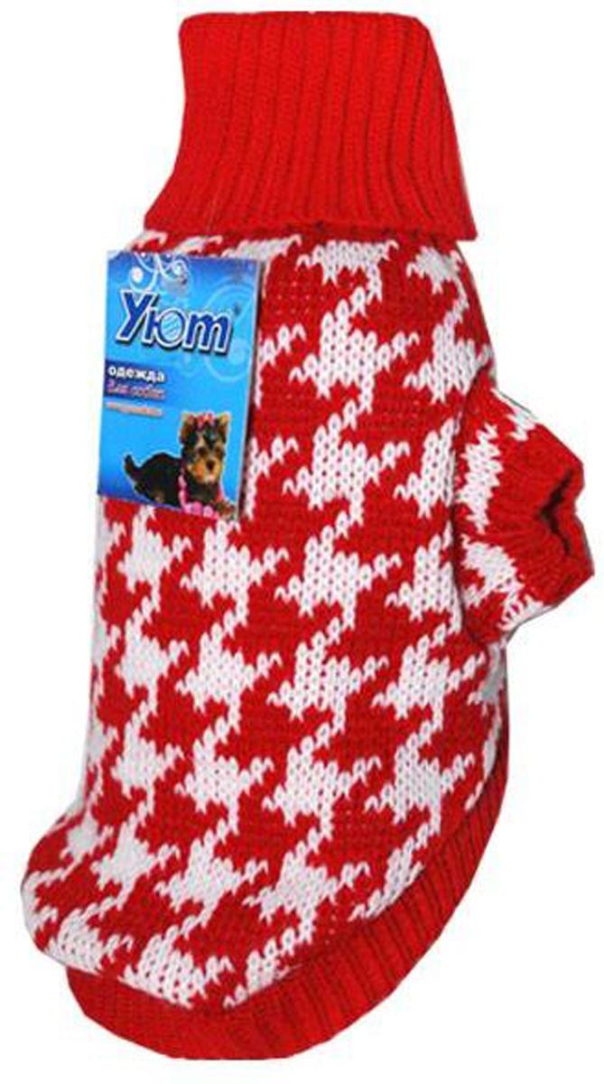 Свитер для собак Уют Шанель, цвет: красный. НМ17С. Размер S