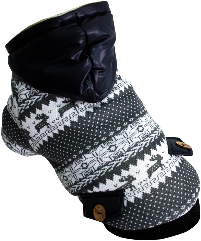 """Куртка для собак Pet's INN """"Скандинавия"""", унисекс, цвет: черный. Пет14ХС. Размер XS"""