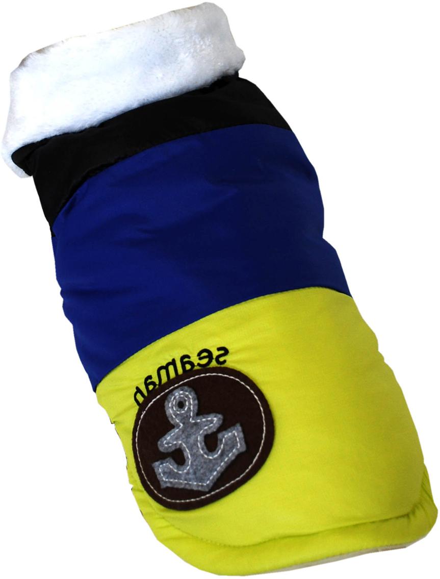 """Куртка для собак Pet's INN """"Якорь"""", унисекс, цвет: черный, синий, желтый. Пет18Л. Размер L"""