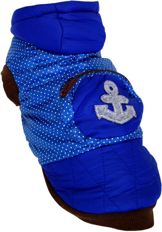 "Куртка для собак Pet's INN ""Якорь"", унисекс, цвет: синий. Пет22ХЛ. Размер XL"
