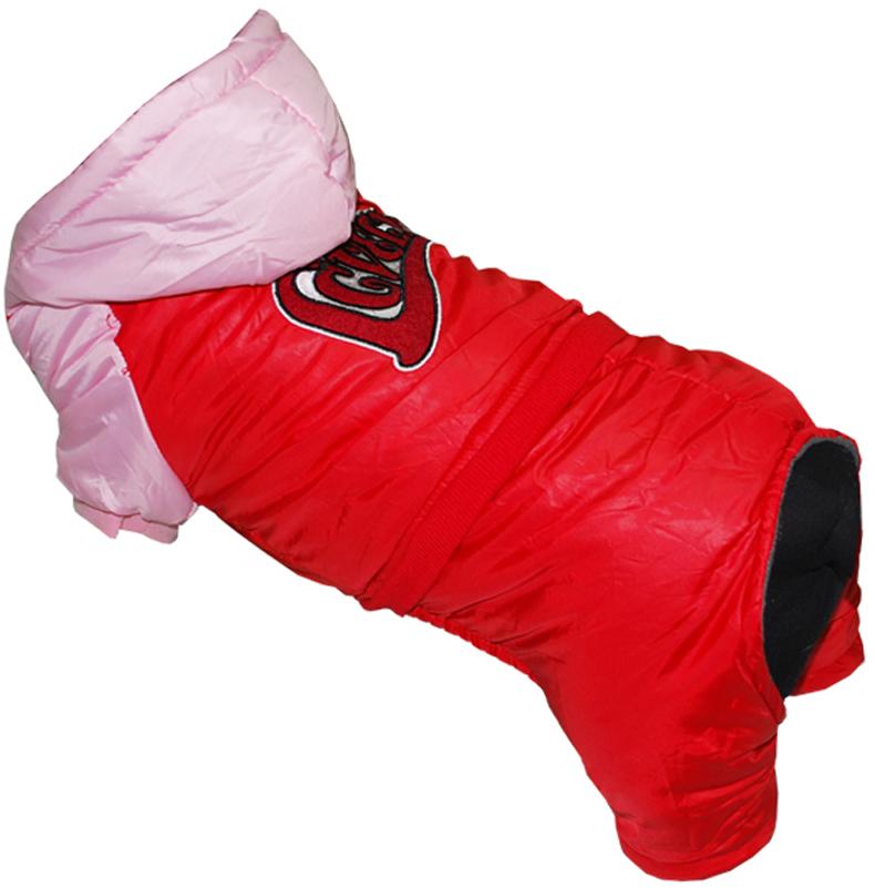 "Комбинезон для собак Pet's INN ""LOVELY"", цвет: красный, розовый. Петс02М. Размер M"