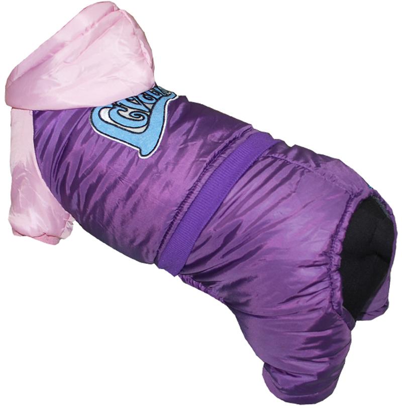 """Комбинезон для собак Pet's INN """"LOVELY"""", цвет: фиолетовый, розовый. Петс03С. Размер S"""