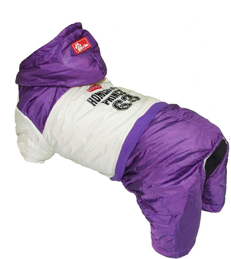 """Комбинезон для собак Pet's INN """"Homerun Prince"""", цвет: фиолетовый, бежевый. Петс04ХС. Размер XS"""