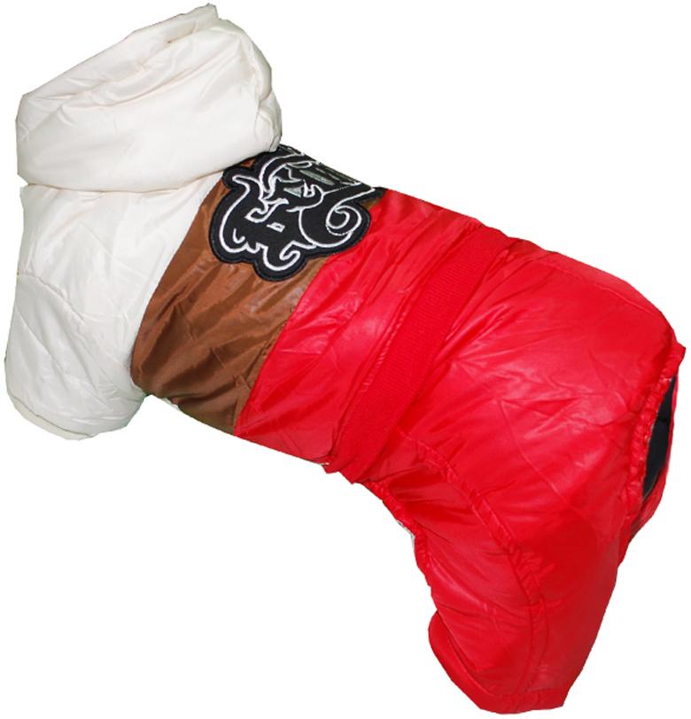 """Комбинезон для собак """"Pet's INN"""", цвет: красный, бежевый, коричневый. Петс07С. Размер S"""