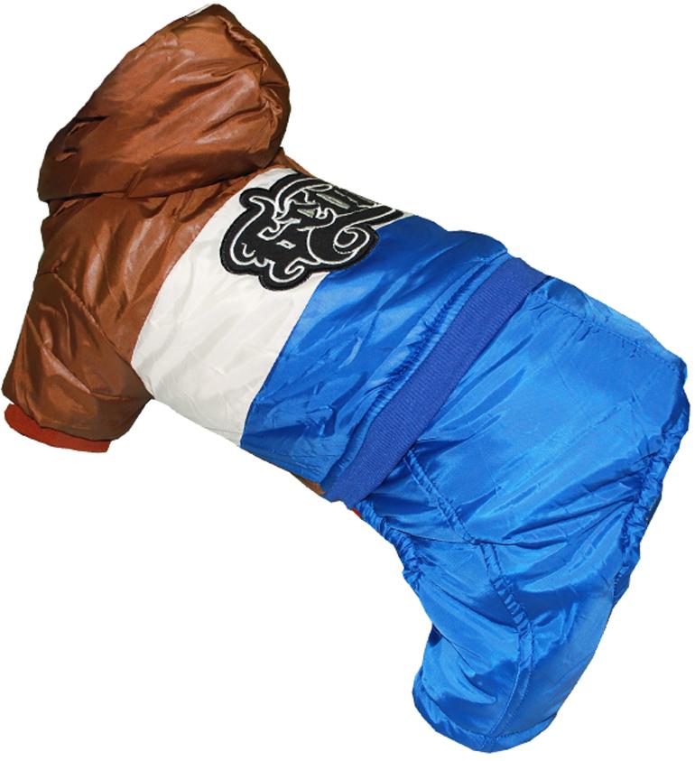 """Комбинезон для собак """"Pet's INN"""", цвет: синий, бежевый, коричневый. Петс09С. Размер S"""