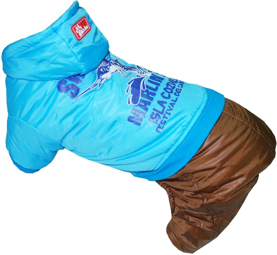 """Комбинезон для собак Pet's INN """"Рыба-Меч"""", цвет: синий, коричневый. Петс11С. Размер S"""