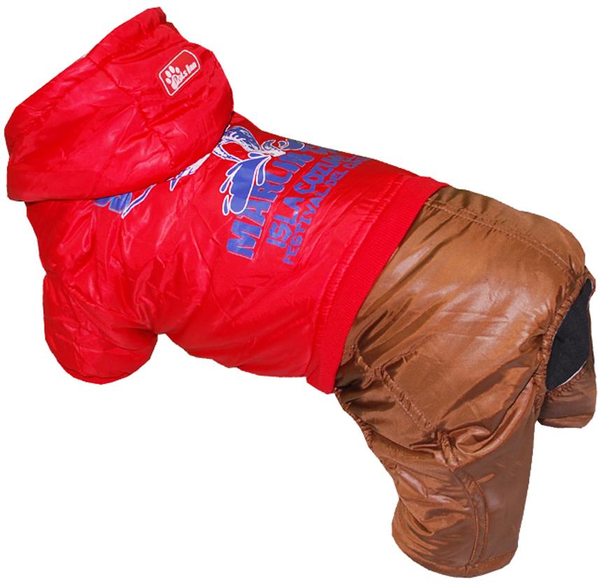 """Комбинезон для собак Pet's INN """"Рыба-Меч"""", цвет: красный, коричневый. Петс12С. Размер S"""