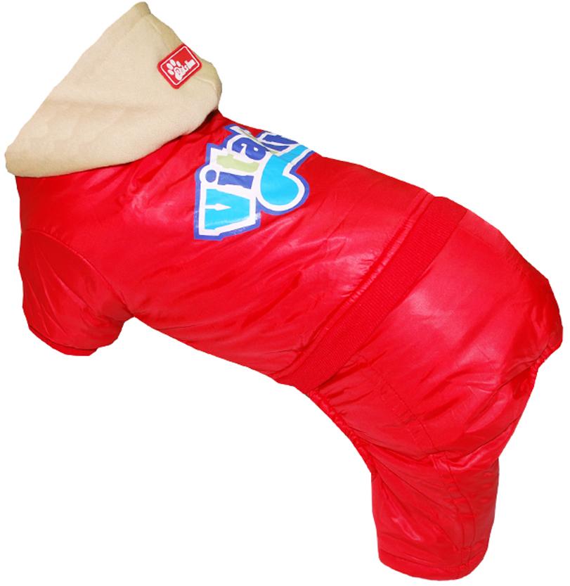 "Комбинезон для собак Pet's INN ""VITALITY"", цвет: красный. Петс14ХС. Размер XS"