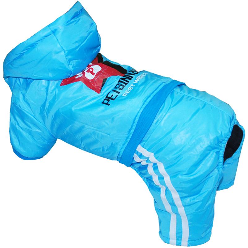 "Комбинезон для собак Pet's INN ""Звезда"", цвет: голубой. Петс15ХС. Размер XS"