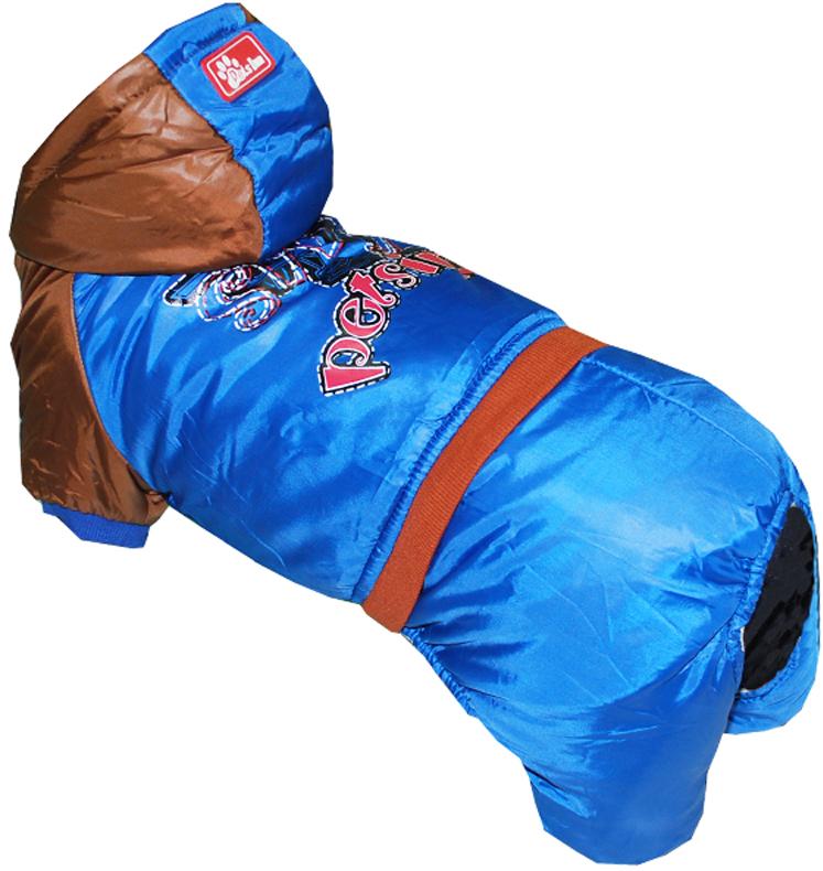 "Комбинезон для собак Pet's INN ""Самолет"", цвет: синий. Петс16Л. Размер L"