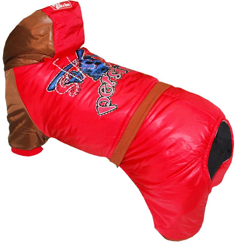 """Комбинезон для собак Pet's INN """"Самолет"""", цвет: красный. Петс17С. Размер S"""