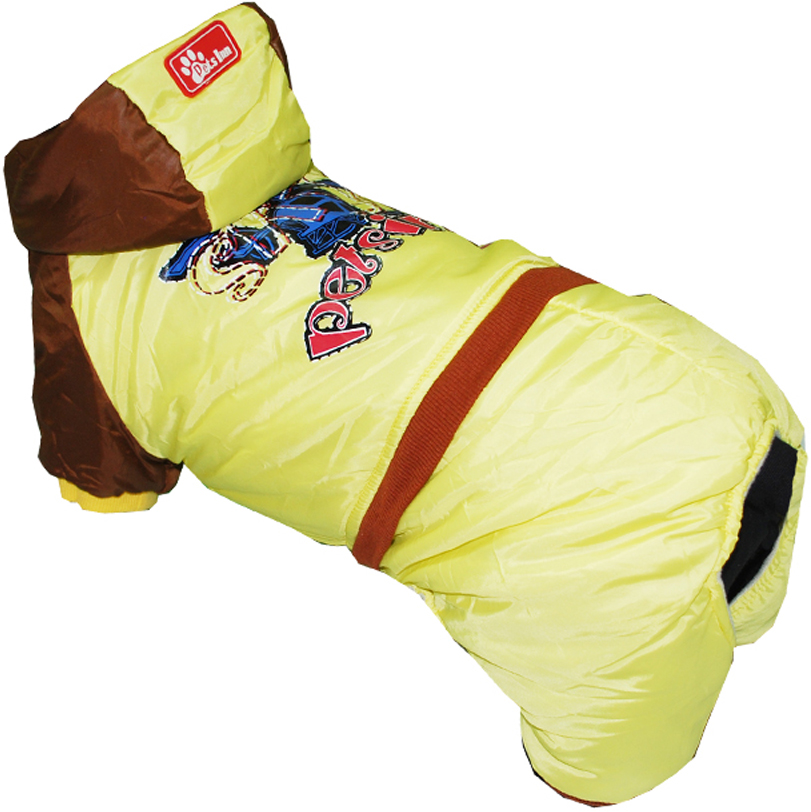 "Комбинезон для собак Pet's INN ""Самолет"", цвет: желтый. Петс18М. Размер M"