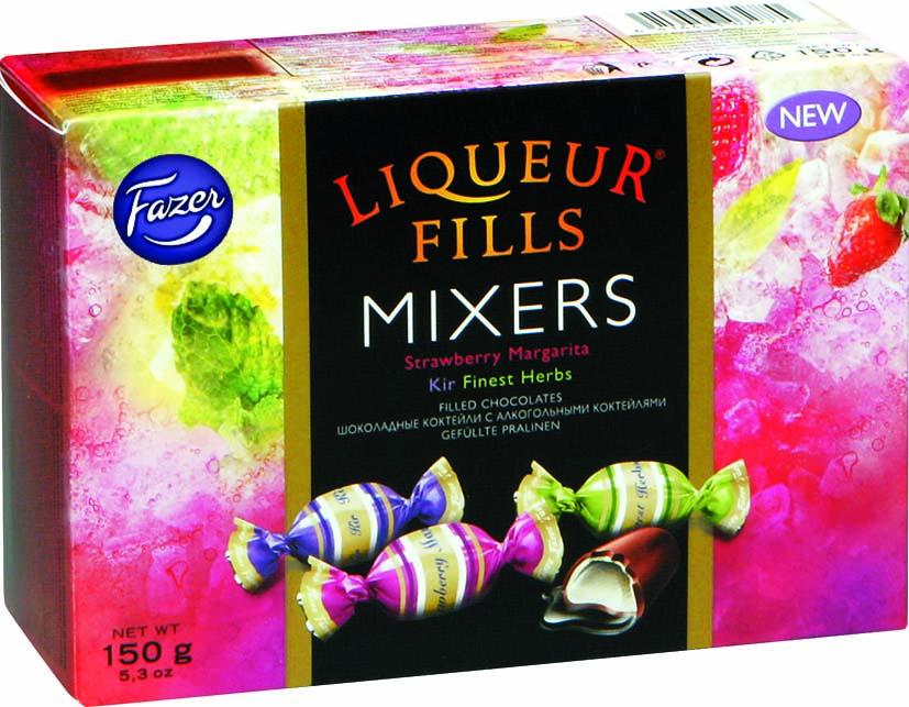 Fazer Liqueur Fills Mixers конфеты шоколадные с алкогольными коктейлями, 150 г