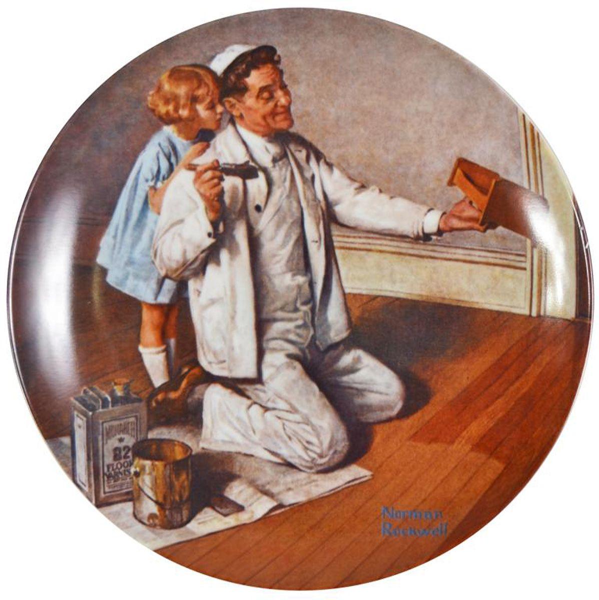 """Норман Роквелл """"Художник"""", декоративная тарелка. Фарфор, деколь. Knowles, США, 1983 год"""