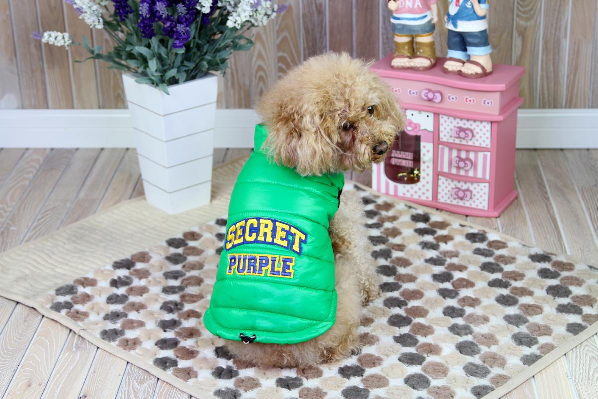 Куртка для собак Dobaz, цвет: зеленый. ДА1207АХС. Размер XS куртка для собак dobaz цвет серый черный да1222вхс размер xs