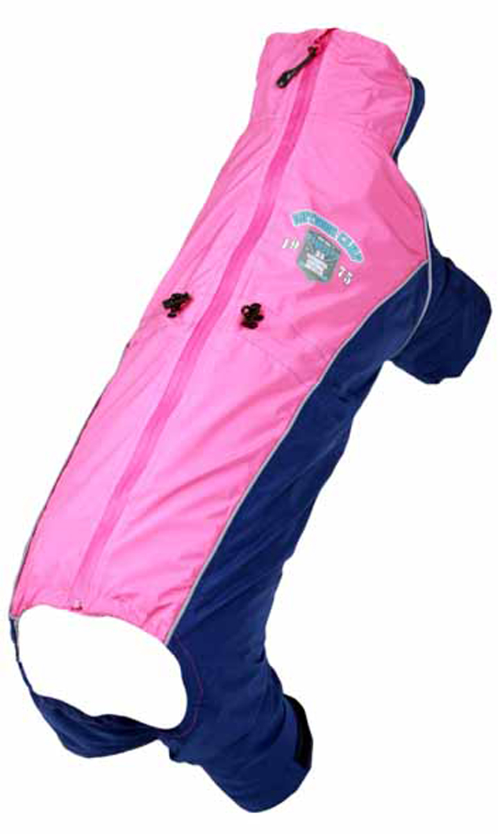 Комбинезон для собак Dobaz, водонепроницаемый, цвет: розовый, черный. ДА13035А3ХЛ. Размер 3XL