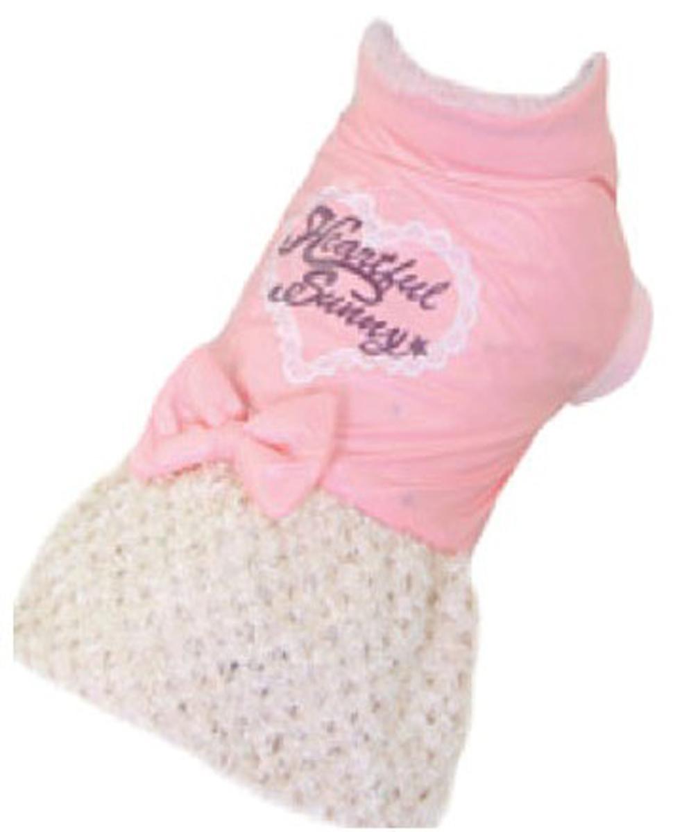 """Платье для собак """"Dobaz"""", утепленное, цвет: розовый, бежевый. ДА13070АХС. Размер XS"""