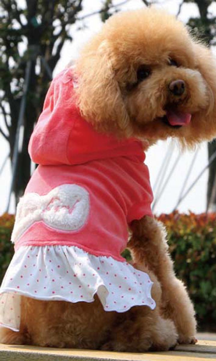 """Платье для собак """"Dobaz"""", утепленное, цвет: розовый. ДА13082АМ. Размер M"""
