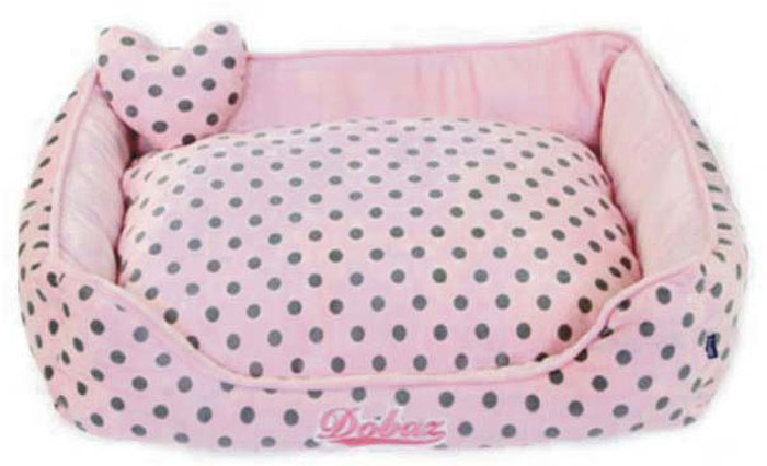 Лежанка для животных ДОБАЗ, цвет: светло-розовый, серый, 75 х 75 х 21 см для пикника лежаки