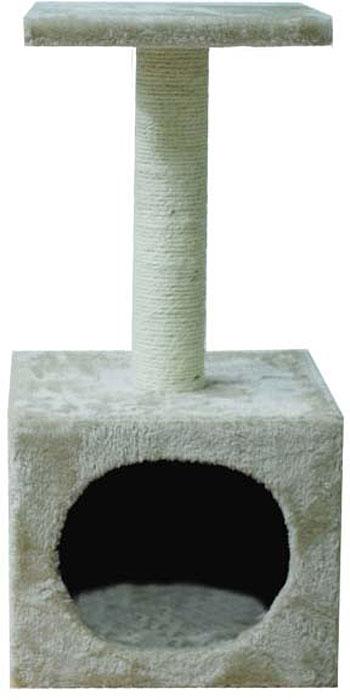 Домик для кошек Уют, с когтеточкой и полкой, 30 х 30 х 60 см домик с когтеточкой для кошек redplastic rp8122 угловой с полкой