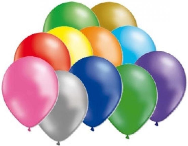 Miland Набор воздушных шариков Металлик 31 см 100 шт