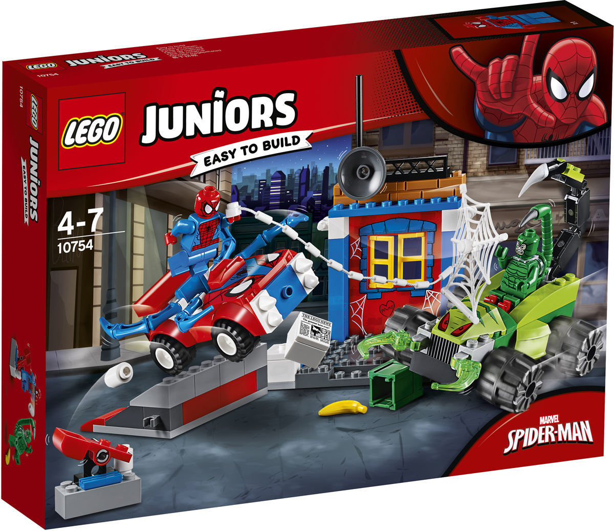 LEGO Juniors 10754 Решающий бой Человека-паука против Скорпиона Конструктор конструктор lego решающий бой человека паука против скорпиона 125 элементов 10754