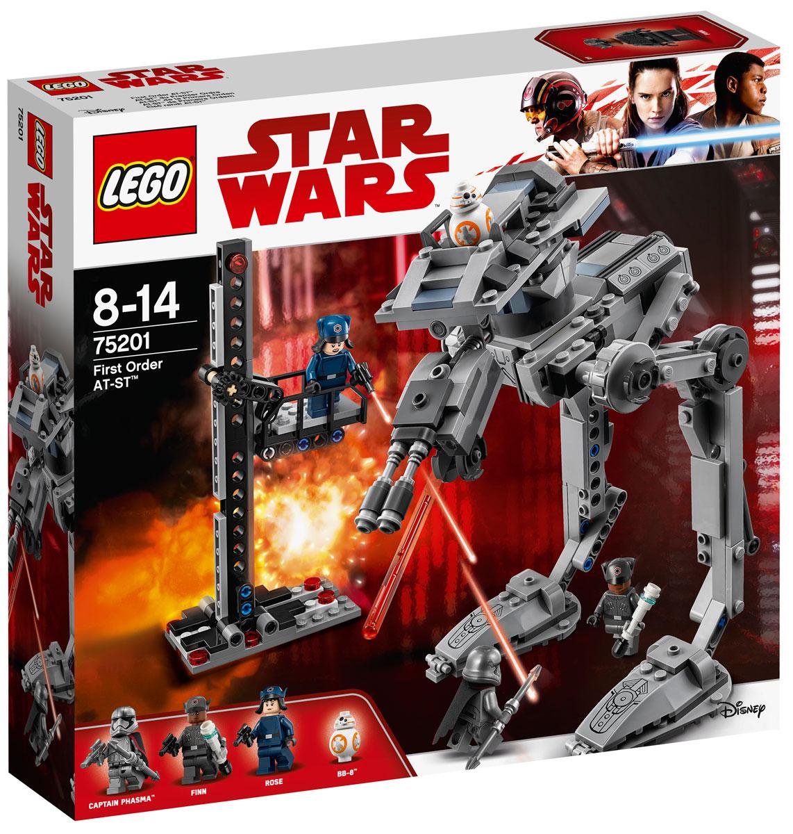 LEGO Star Wars 75201 Вездеход AT-ST Первого Ордена Конструктор конструктор lego 75201 вездеход at st первого ордена