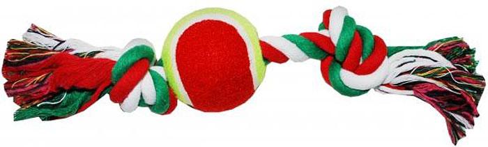 Грейфер для собак №1, 2 узла, с теннисным мячом, 28 см