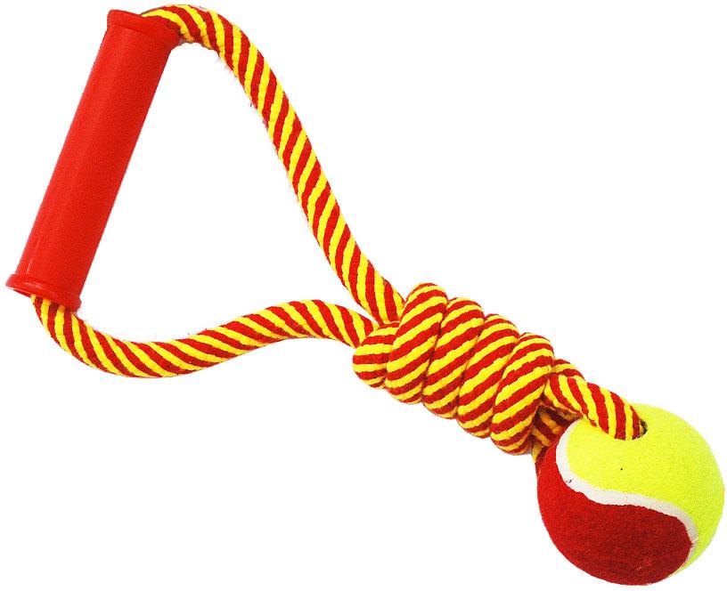 Грейфер для собак №1, с мячом и ручкой, 30 см грейфер для собак 1 2 узла с мячом 35 см