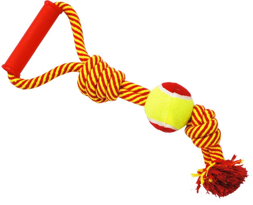 Грейфер для собак №1, 2 узла, с мячом и ручкой, 40 см грейфер для собак 1 2 узла с мячом 35 см